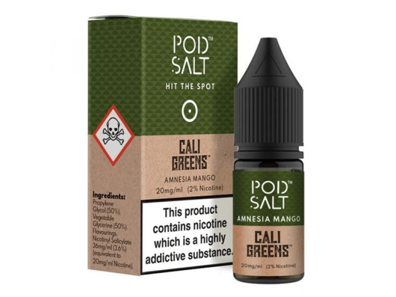 Pod Salt Amnesia Mango Nicotine Salt E Liquid | 10ml Bottle